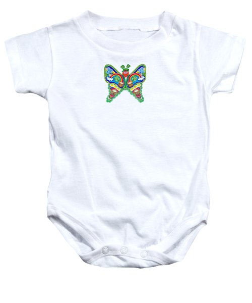 March Butterfly Baby Onesie