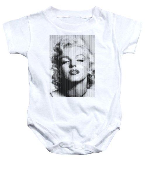 Marilyn Monroe - Bw Verticals  Baby Onesie