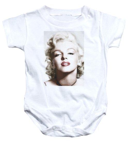 Marilyn Monroe - Colored Verticals Baby Onesie by Samuel Majcen