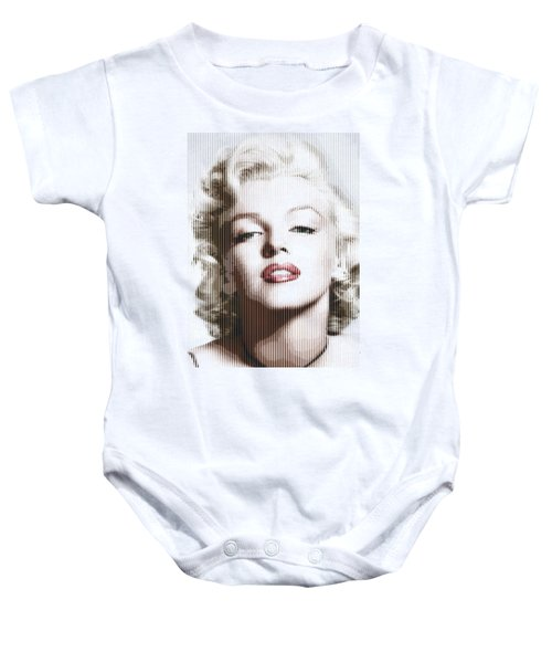 Marilyn Monroe - Colored Verticals Baby Onesie