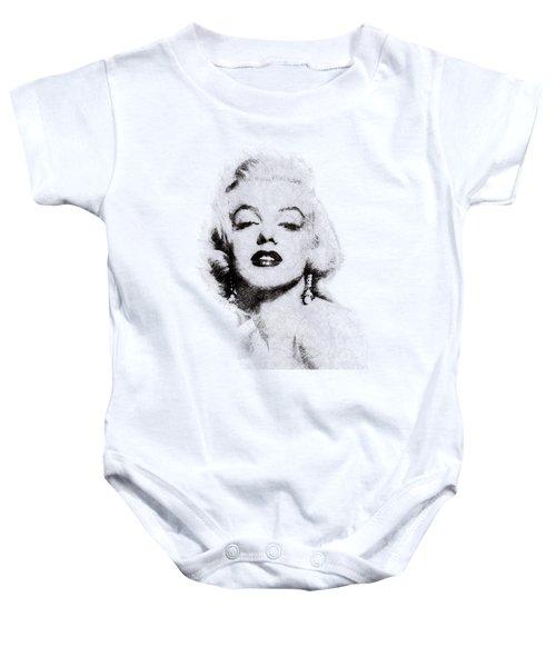 Marilyn Monroe Portrait 02 Baby Onesie by Pablo Romero