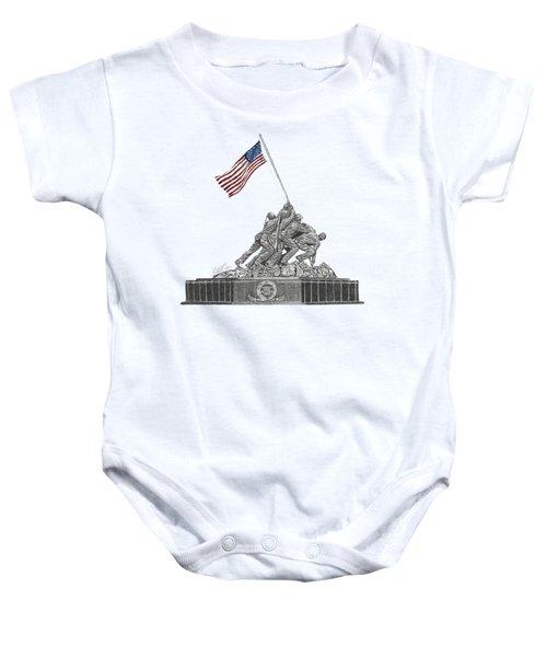 Marine Corps War Memorial - Iwo Jima Baby Onesie