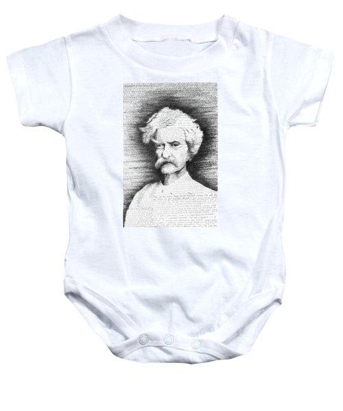 Mark Twain In His Own Words Baby Onesie