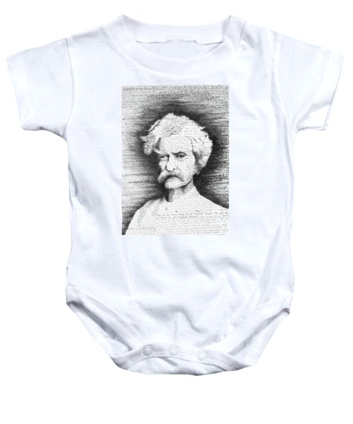 Mark Twain In His Own Words Baby Onesie