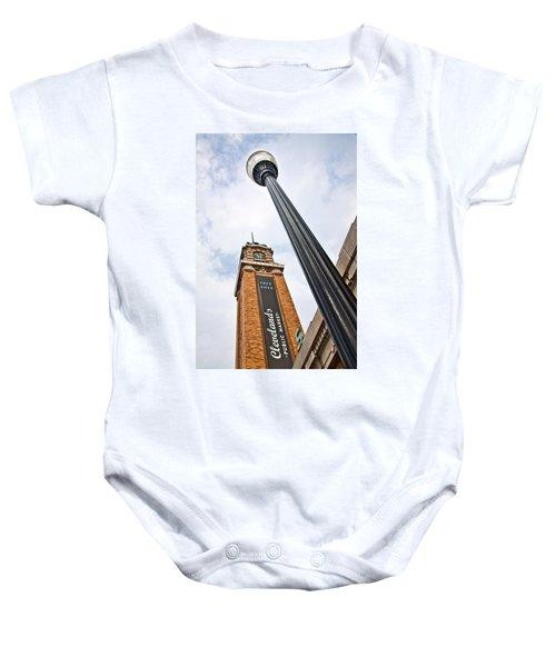 Market Clock Tower Baby Onesie
