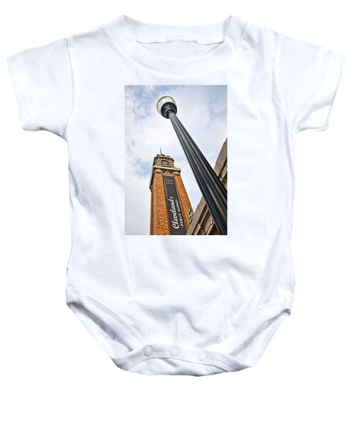 Market Clock Tower Baby Onesie