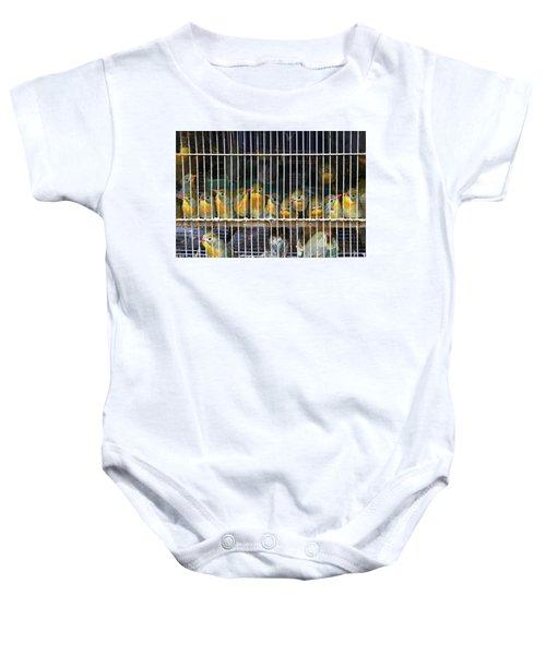 Market Finches Baby Onesie