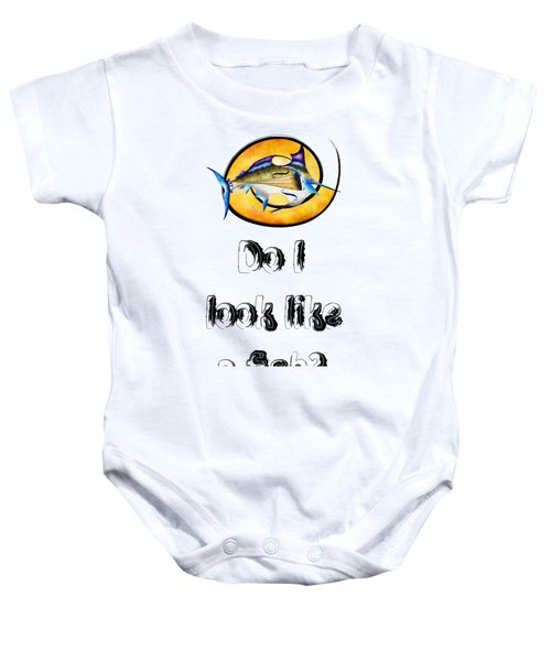 Marlinissos V1 - Violinfish With Text Baby Onesie