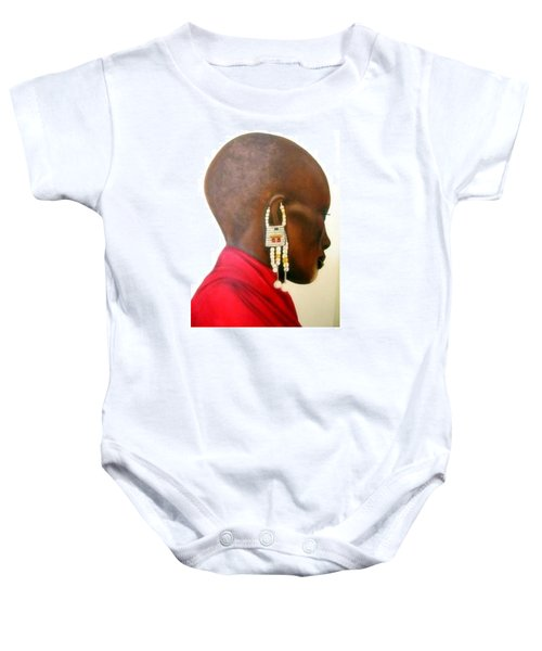 Masai Woman - Original Artwork Baby Onesie
