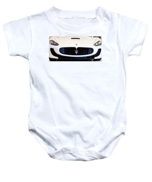 Maserati White Pano 121715 Baby Onesie