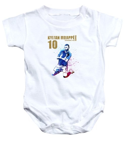 Mbappe #gold #world Cup 2018 #france Baby Onesie