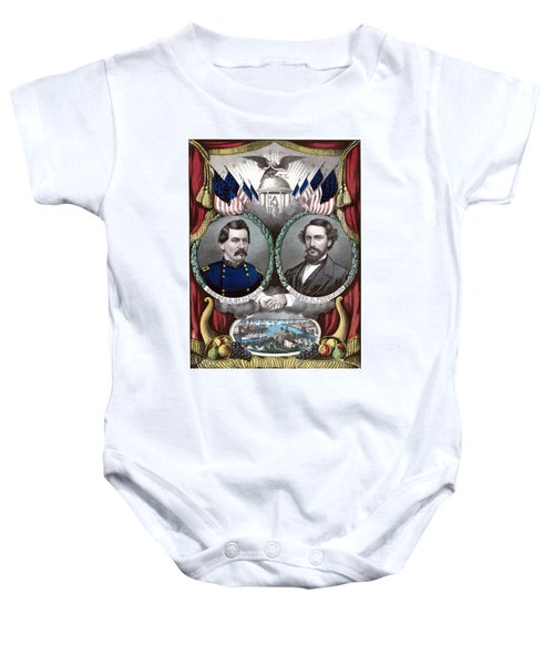 Mcclellan And Pendleton Campaign Poster Baby Onesie