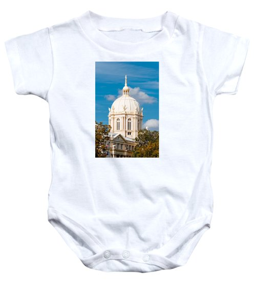 Mclennan County Courthouse Dome By J. Reily Gordon - Waco Central Texas Baby Onesie