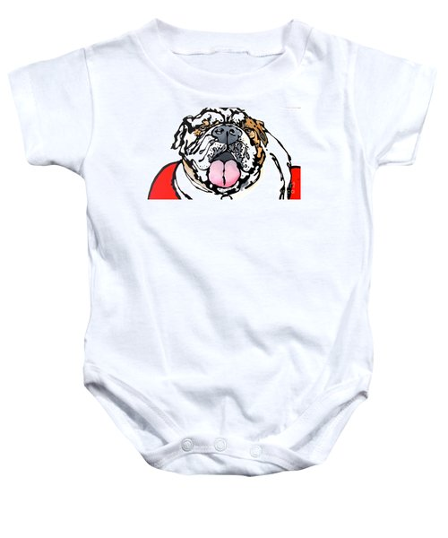 Meatball The Bull Dog Baby Onesie