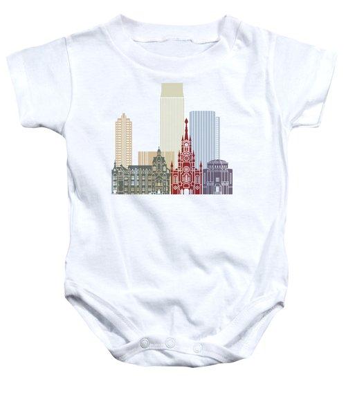 Medellin Skyline In Poster Baby Onesie