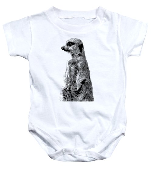 Meerkat Etching Baby Onesie