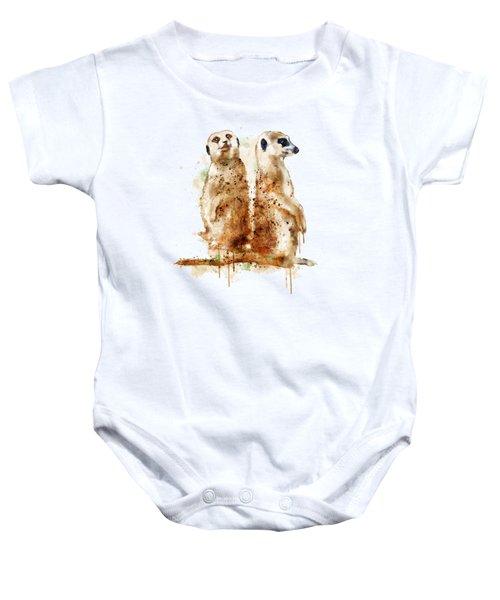 Meerkats Baby Onesie by Marian Voicu