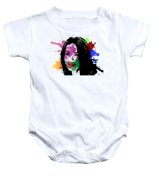 Megan Fox Pop Art Baby Onesie