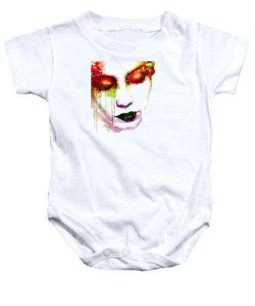 Melancholy In Watercolor Baby Onesie