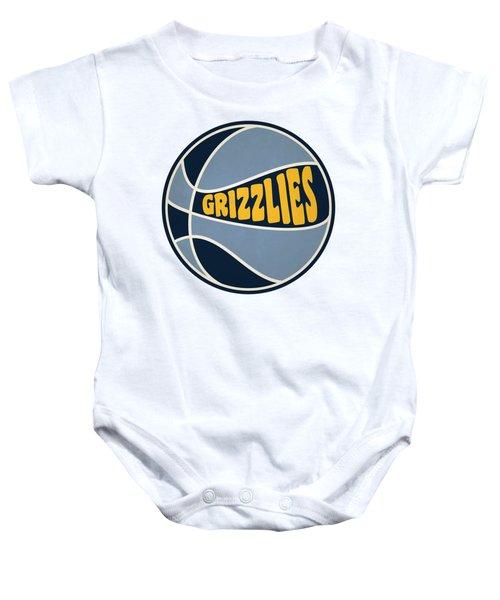 Memphis Grizzlies Retro Shirt Baby Onesie by Joe Hamilton