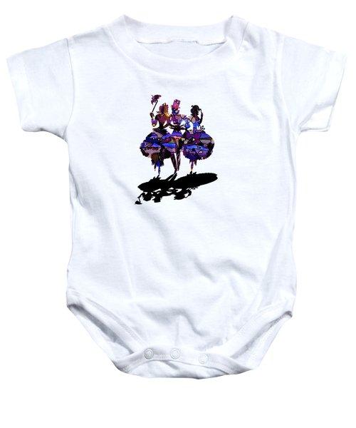 Menage A Trois On Transparent Background Baby Onesie
