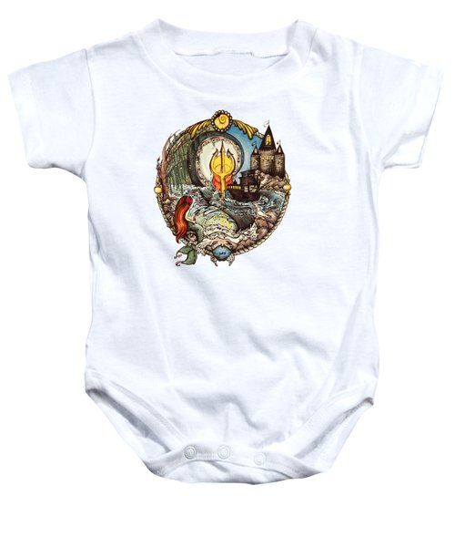 Mermaid Part Of Your World Baby Onesie by Cat Dolch