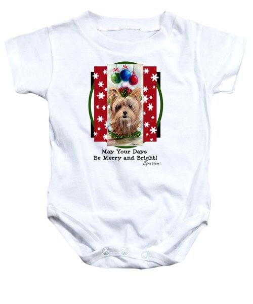 Merry And Bright Baby Onesie
