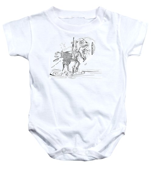 Merry-go-round Horse Baby Onesie
