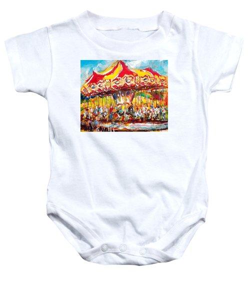 Merry-go-round Baby Onesie