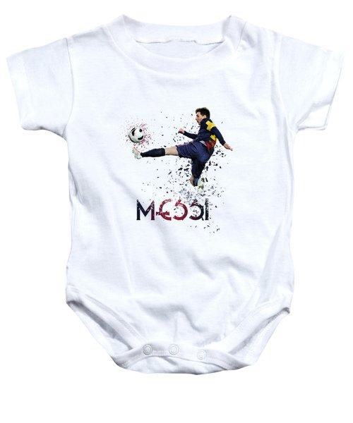 Messi Baby Onesie by Armaan Sandhu