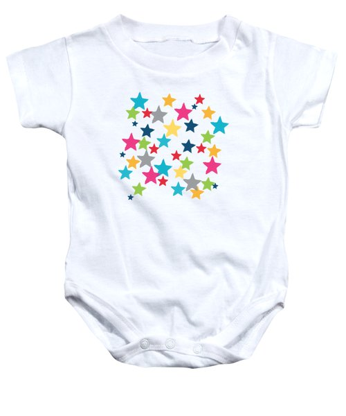 Messy Stars- Shirt Baby Onesie by Linda Woods