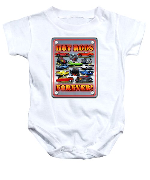 Metal Hot Rods Forever Baby Onesie
