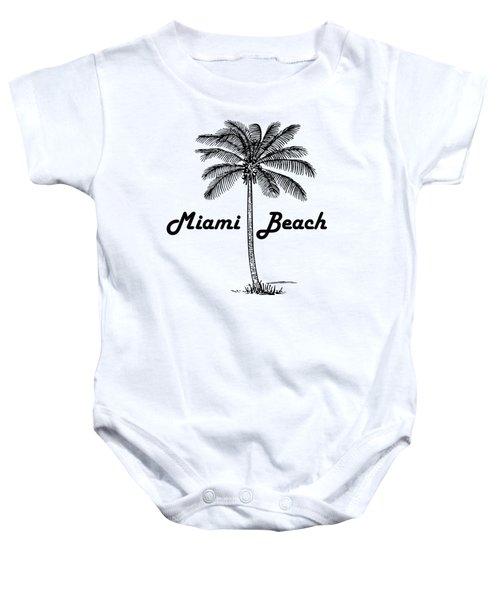 Miami Beach Baby Onesie