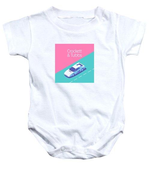 Miami Vice Crockett Tubbs - Magenta Baby Onesie