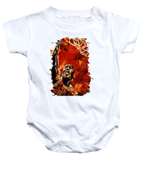 Michael Jordan Baby Onesie by Maria Arango
