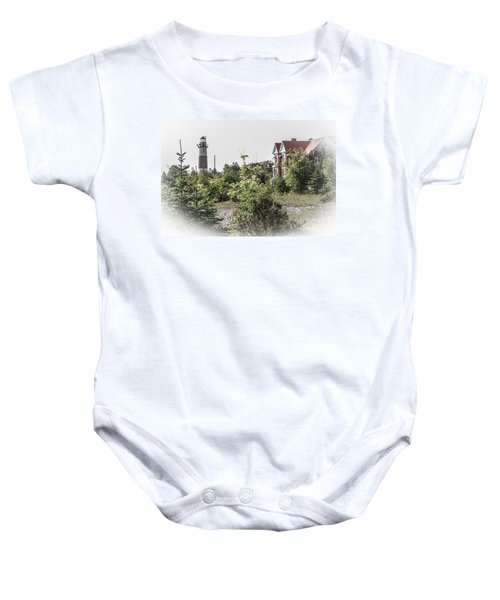 Middle Island Lighthouse And Keeper's Lodge Baby Onesie