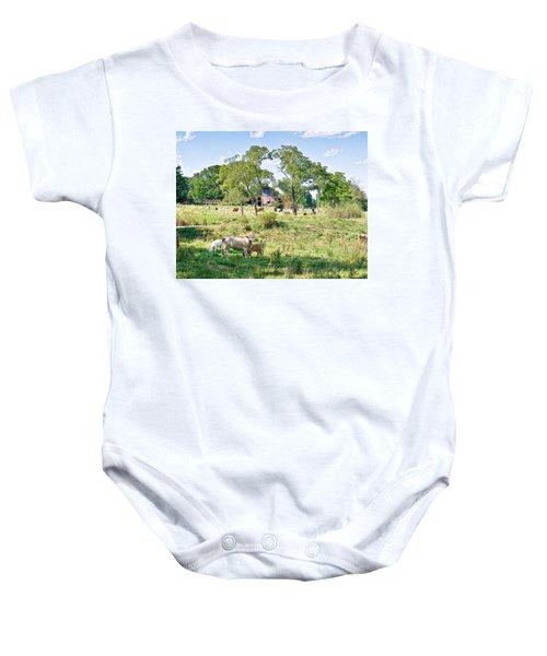 Midwest Cattle Ranch Baby Onesie