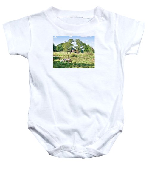 Midwest Cattle Ranch Baby Onesie