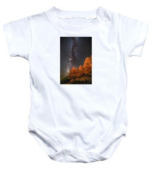 Milky Way And Navajo Rocks Baby Onesie