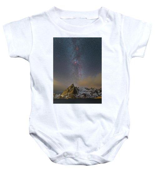 Milky Way In Lofoten Baby Onesie