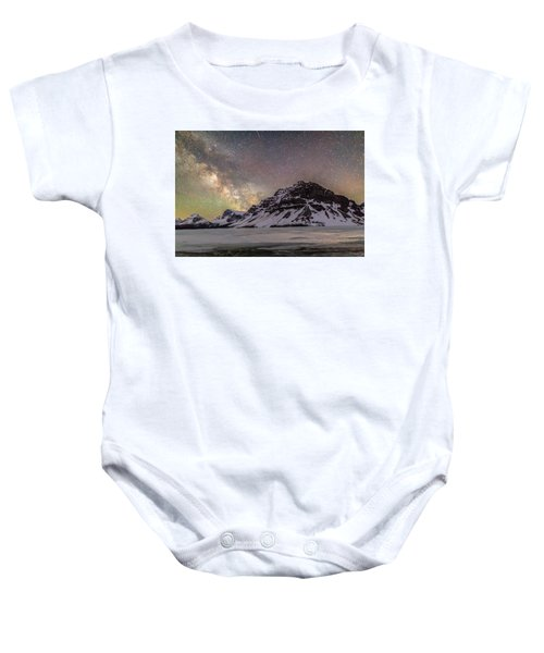 Milky Way Over Crowfoot Mountain Baby Onesie