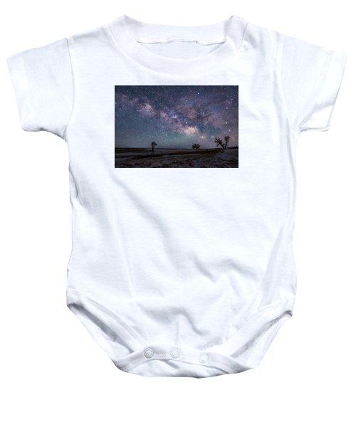 Milky Way Over The Prairie Baby Onesie
