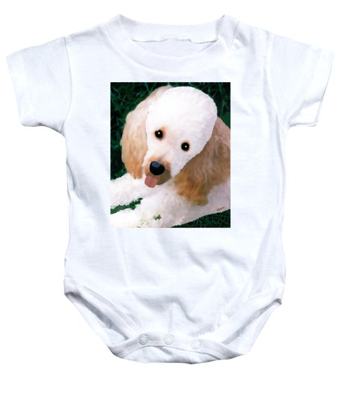 Miniature Poodle Albie Baby Onesie