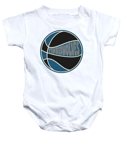 Minnesota Timberwolves Retro Shirt Baby Onesie by Joe Hamilton