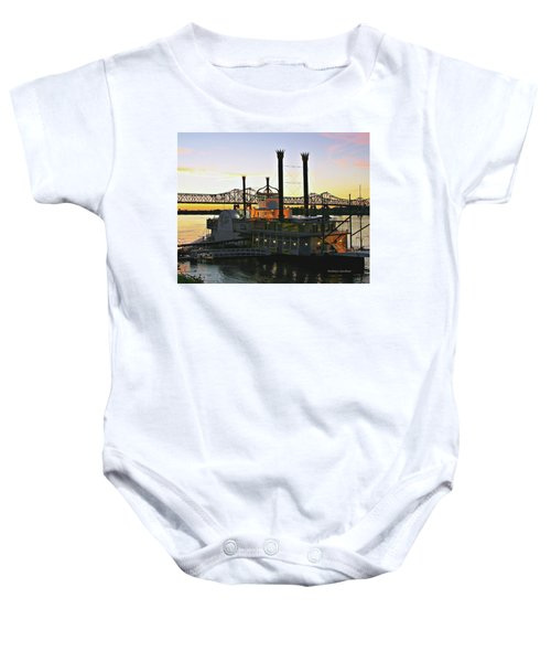 Mississippi Riverboat Sunset Baby Onesie