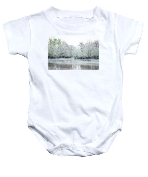 Mist On The River Baby Onesie