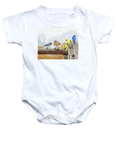 Misty Morning Meadow Baby Onesie