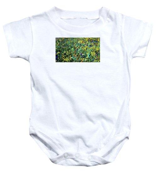 Mixed Wildflowers In Texas Baby Onesie