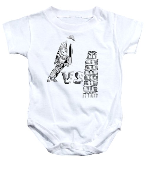 Mj Vs Pisa Baby Onesie by Serkes Panda