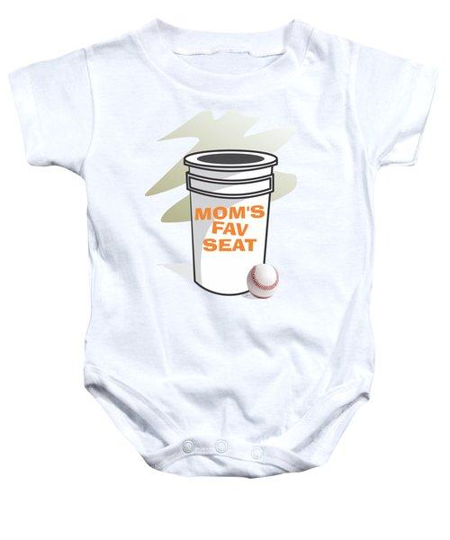 Mom's Favorite Seat Baby Onesie by Jerry Watkins